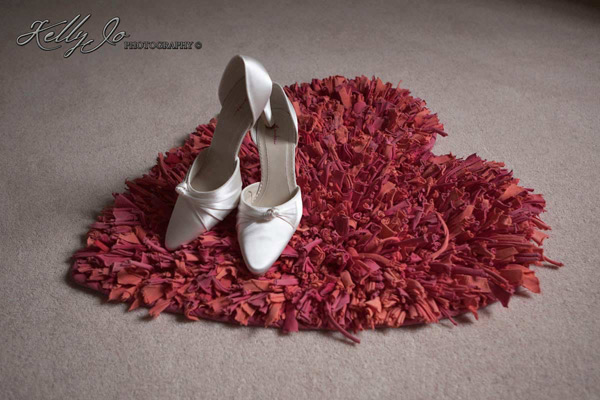 Wedding Shoes on Heart Shaped Rug