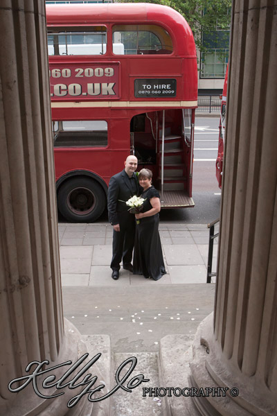 Bride and Groom with Routemaster Bus