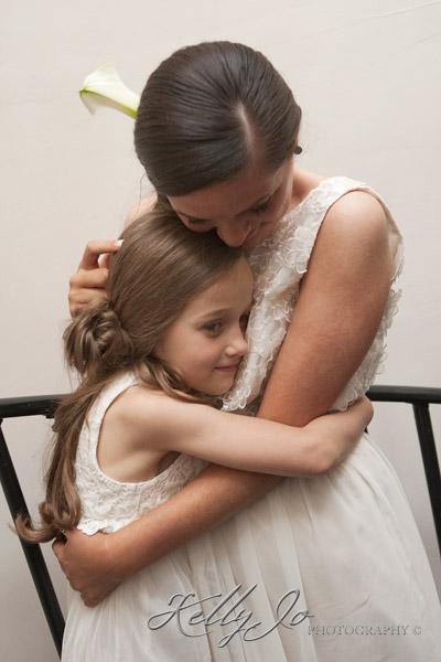 Bridesmaids Cuddling