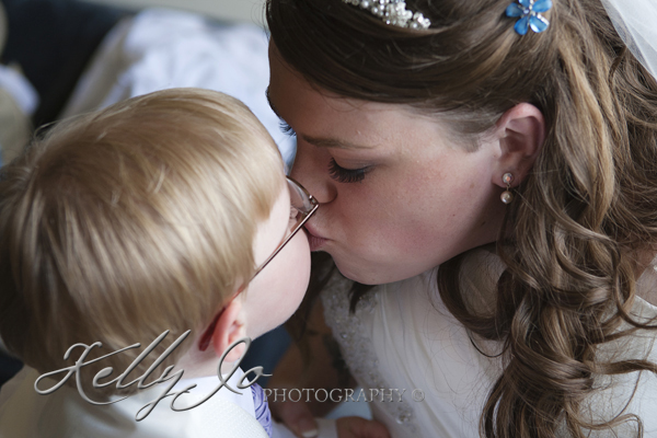 Bride & Son kiss
